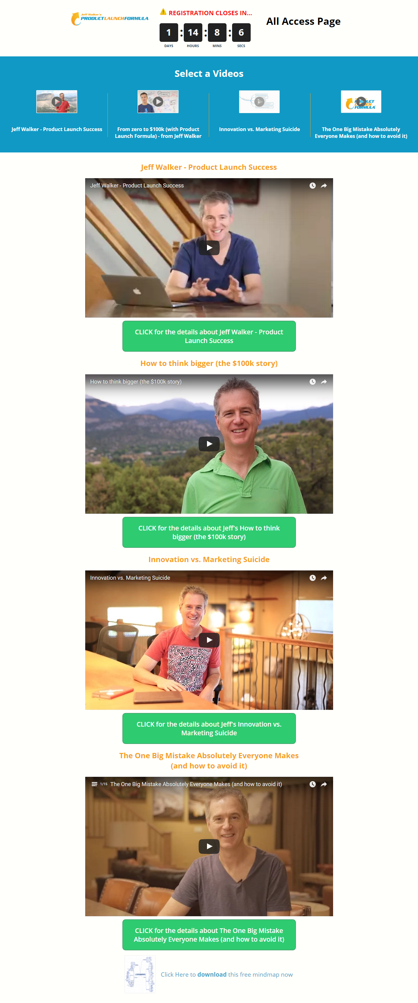 Jeff Walker Product Launch – Video Template