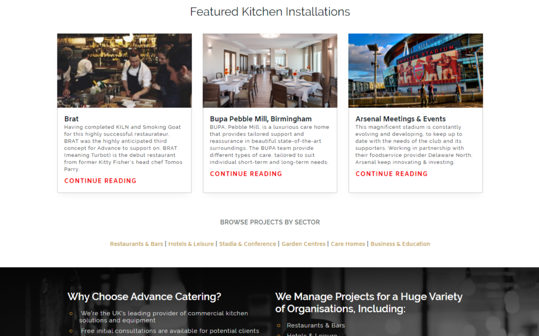 Leading Commercial Kitchens Fitters in the UK Advance Catering